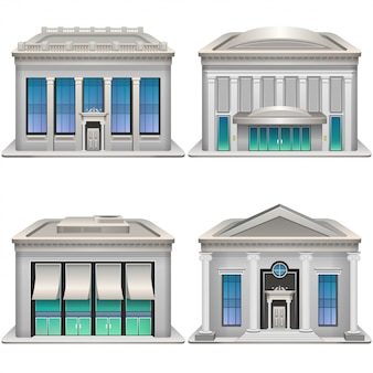Bank buildings.