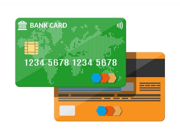 Bank card, credit card template.
