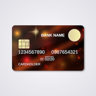 Bank card design template. abstract style
