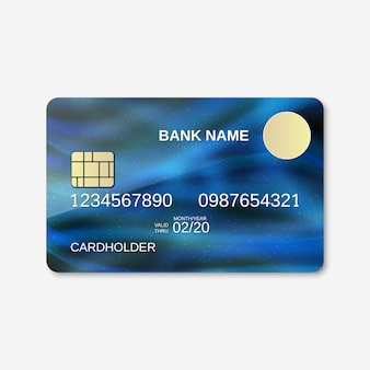 Bank card design template