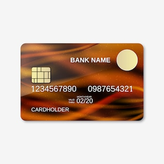 Bank card design template.