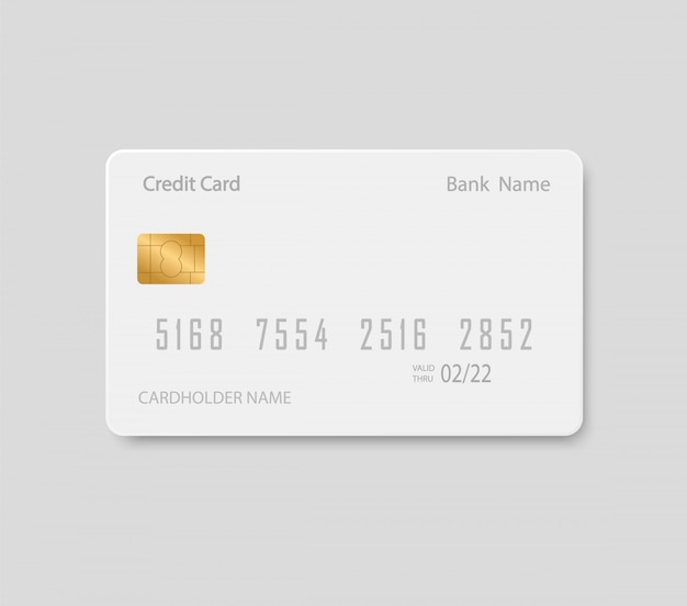 Bank card mock up. plastic credit card.