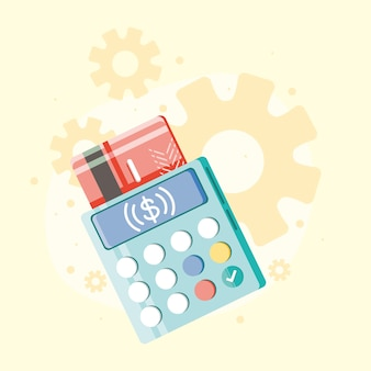 Bank credit card and dataphone