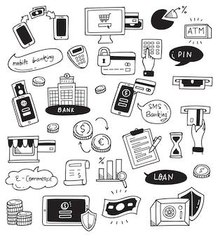Bank doodle set