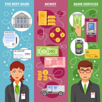 Bank employees vertical banners