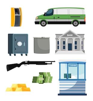 自動化された銀行金融と集金