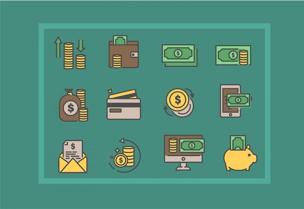 Bank and finance icon set. finance vector illustration