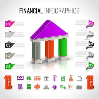 Bank financial infographics