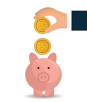 銀行、世界経済、お金の節約