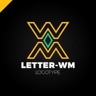 은행 또는 금융 조직 편지 m 또는 w 로고 템플릿