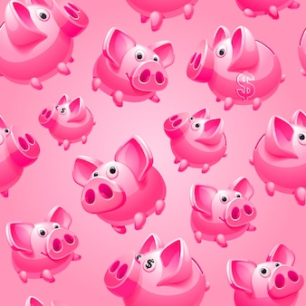 Bank on pink background