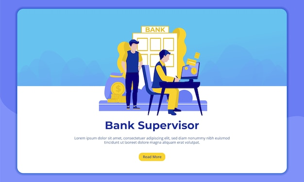 Of bank supervisor, landing page for banking activities