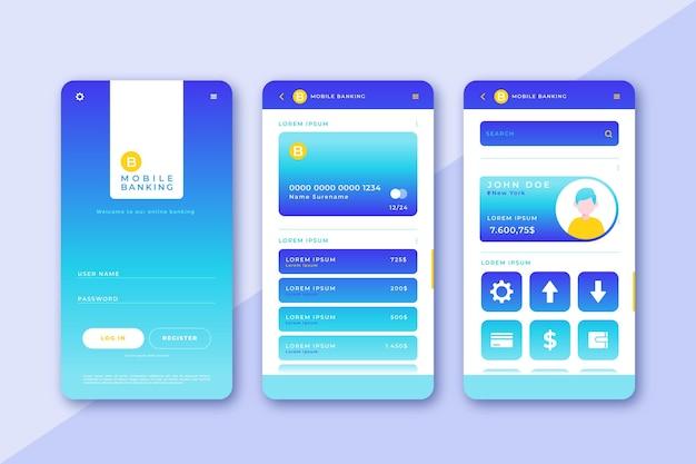 Пакет интерфейса банковского приложения
