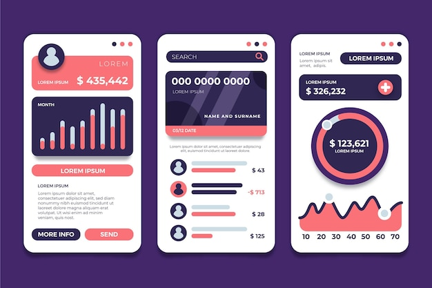 Banking app interface template
