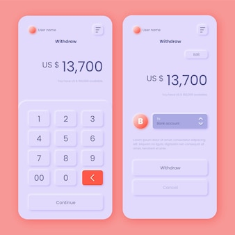 Tema dell'interfaccia dell'app bancaria