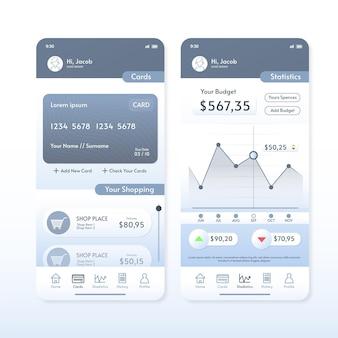 Banking app interface