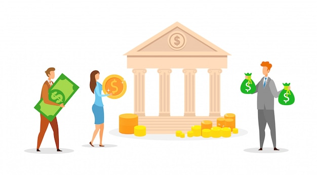 Banking, cash transactions vector illustration