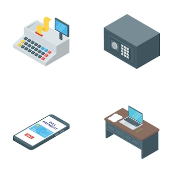 Banking and finance isometric vectors
