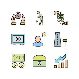 Banking icons setsheet