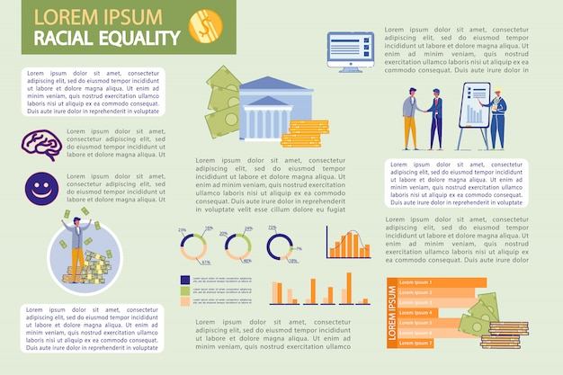 Banking infographics set with business people.