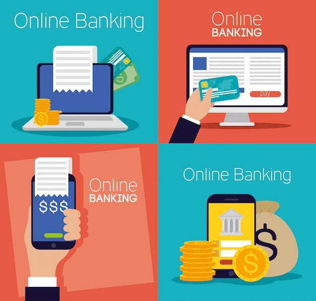 Banking online technology with electronic devices