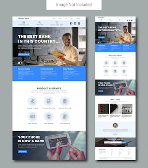 Banking service landing page template