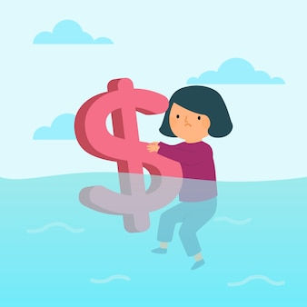 Bankruptcy concept illustration