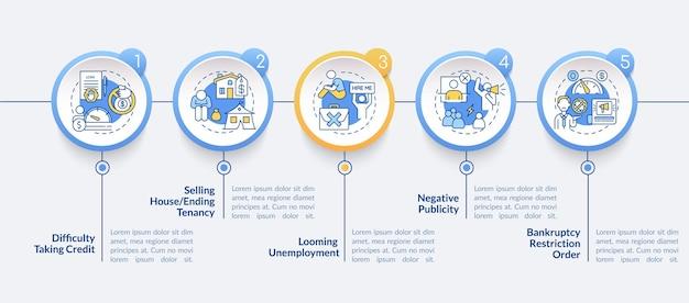 파산 infographic 템플릿