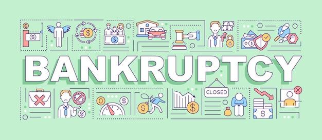 Банкротство слово концепции баннер