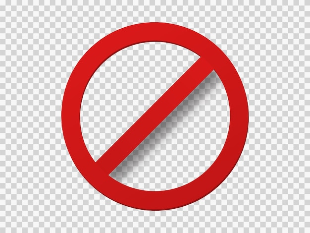 Banned icon template. é