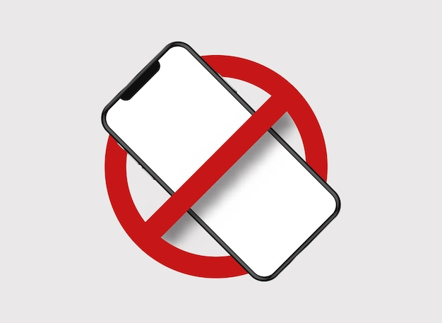 Banned mobile phone.