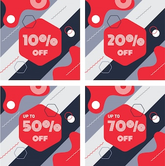 Banner abstract discount background
