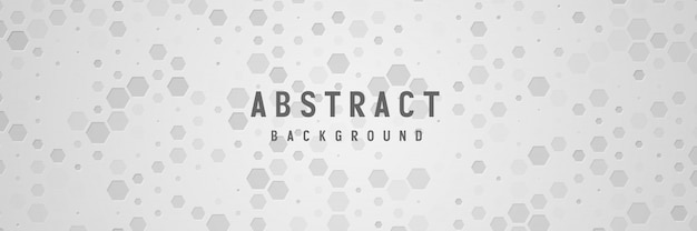 Banner abstract geometric white background