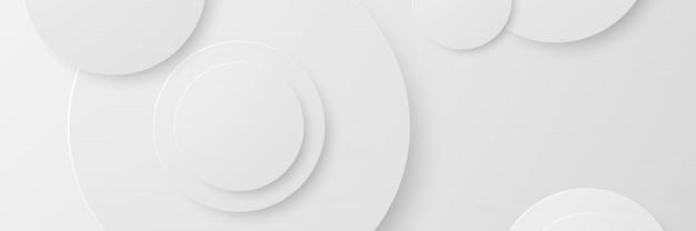 バナー抽象的な幾何学的な白い背景