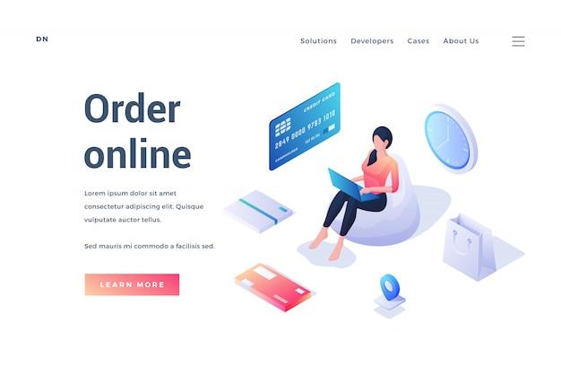 Banner advertising online order option in store
