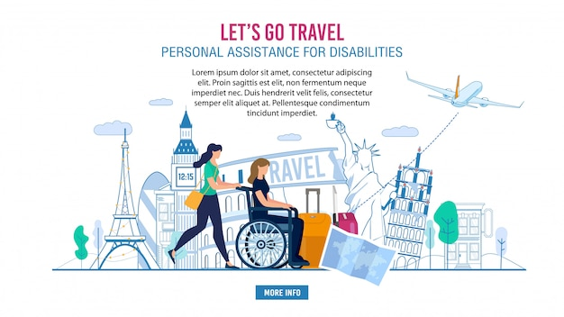 Banner advertising prof assistance for disabled