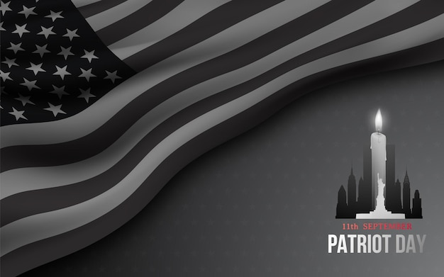 Banner for american patriot day