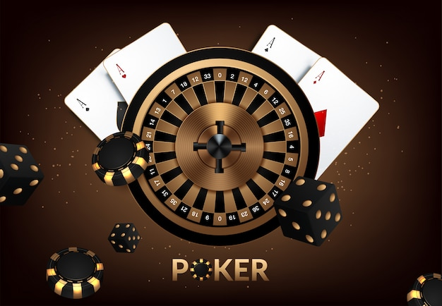 Banner, background for advertising games in casinos