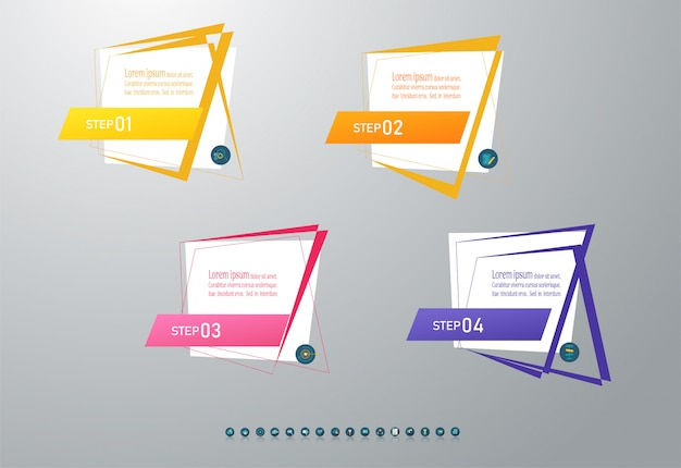 Banner business template steps