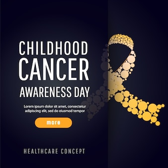Banner for childhood cancer awareness day