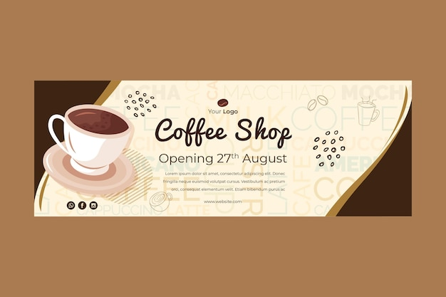 Banner for coffee shop