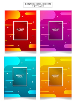 Banner collection abstract vector illustration . suitable for your ads