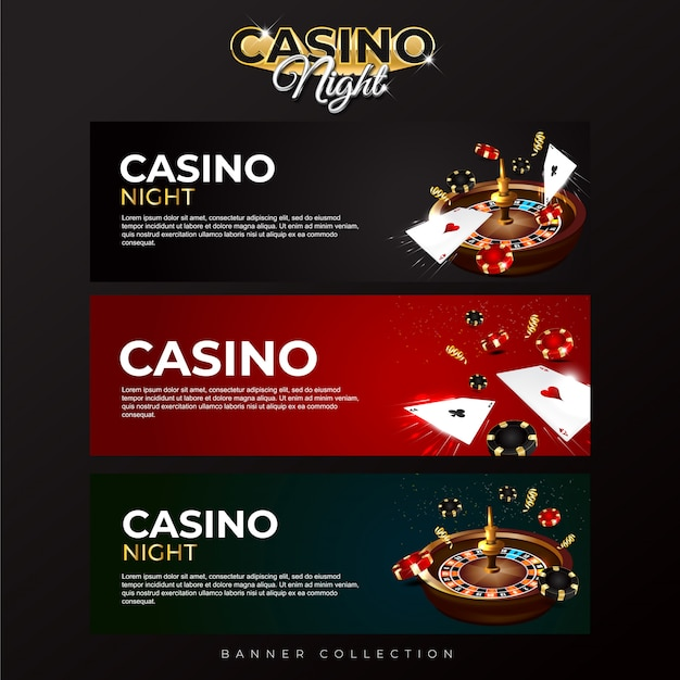 Banner collection casino night