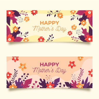 Banner collection with mothers day theme
