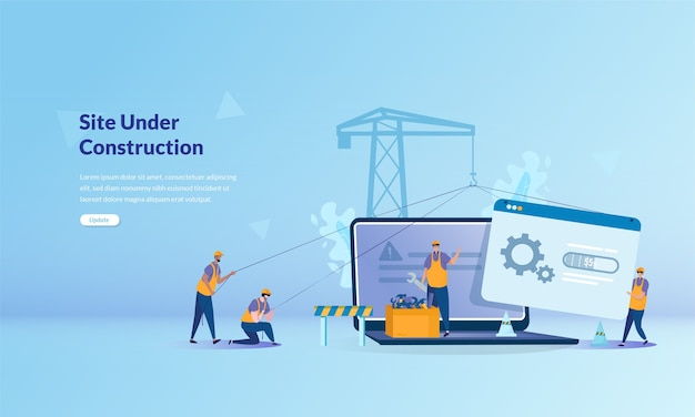 Banner concept about site under construction