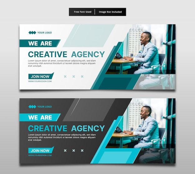 Banner creative agency template design.