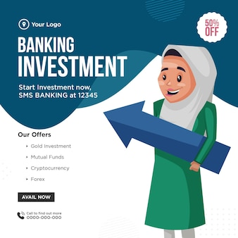 Banner design of banking investment