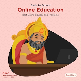 Banner design of best online education courses and programs