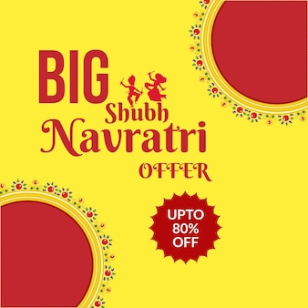 Banner design of big shubh navratri offer template