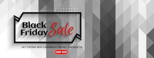 Banner design per la promozione dell'offerta di vendita del black friday